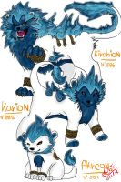 Fakemon: Divine Fire Lion by MonstahMastah