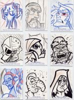 Star Wars-Galactic Files Sketch Cards #9 by mikehampton