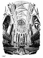 Our Lady of Amiens by BlackHatGraphics