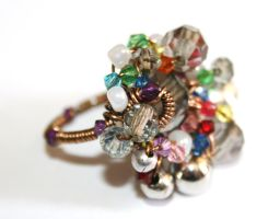 Beaded Statement Ring by FranyaBlue