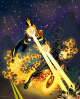 Nova vs Ghost Rider by 66lightning