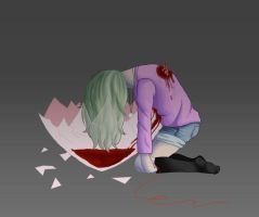 Smashed Heart by IamaCutie