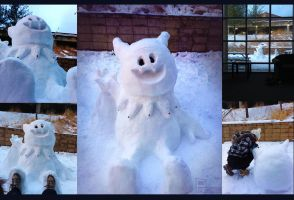 3ft Jack Frost Snowman by Pheoniic
