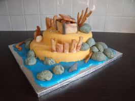 Pirate Island Cake 2 by BevisMusson