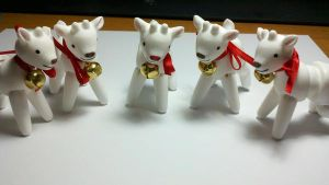 Tiny BJD Reindeers DONE by Mothi03
