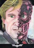 Harvey Dent - Two Face by alemarques21