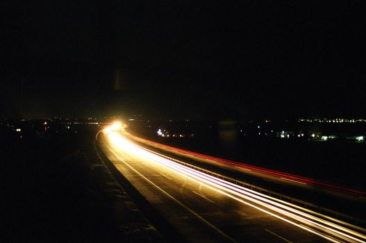 Nightlife on the Highway by alanstrang