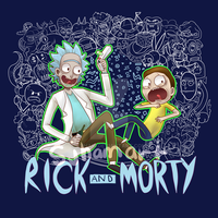 Rick and Morty T-Shirt Design by sjham