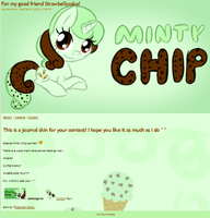 Minty Chip journal skin! by Reporter-Derpy