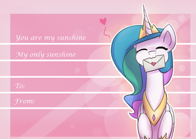 Celestia's Valentines Card by AnticularPony