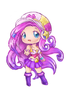 Coloured chibi Arcade Miss Fortune by Lighane