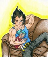 Vegeta and Bra by VegetaVixen22