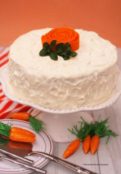 Classic Carrot Cake w Cream Cheese Frosting by theresahelmer