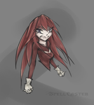 Red Power  /Sonic .Knuckles by SpellCaster77