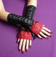 Goth Lolita Arm Warmers by Estylissimo