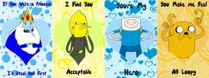 Adventure Time Guys Valentine's Cards by Vixykin