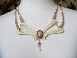 Pearl and Bone Necklace by Fur-Elyse