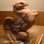 Rough clay griffin by Reptangle