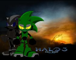 (ORIGINAL) Shadow and Sonic in Halo 3 by ShadowChief017