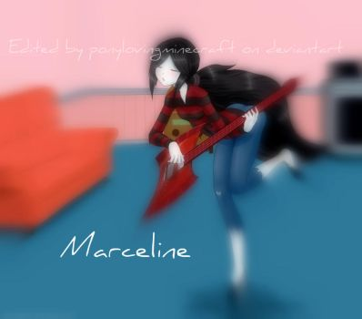 Marceline Fan Art Edited #2 by PonyLovingMinecraft