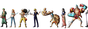 The Straw Hats  by Deer-Head