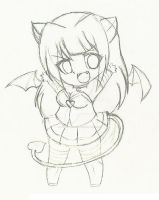 Julyann 19 chibi Sukubo sketch by Julylunmoon