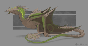 Earth Dragon Design by xXNuclearXx