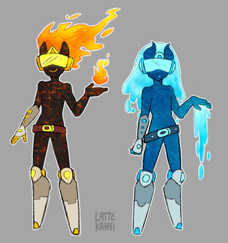 Fire and Water by LATTE-KAHVI