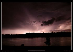 Lightning Over Lake Mary by Rhavethstine