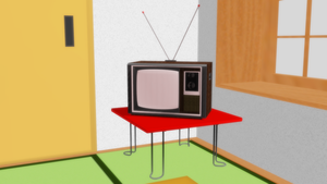 [Sketchup to MMD] Generic 1970s Style TV set by MichaelOKeefe1991
