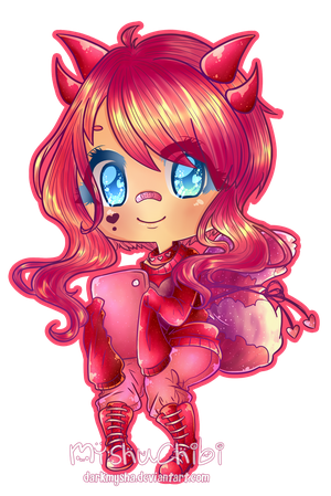 My OC pinku by DarkMysha