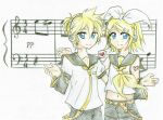 Kagamine Twins. by silky-heart