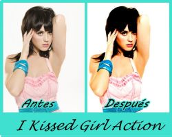 Action para PSc 'I Kissed Girl' by Mica-Editions