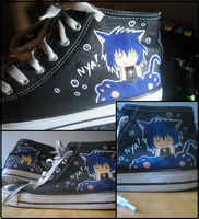Yoru on my shoes by Chanuchi