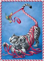Candycane Tiger by QueenGwenevere