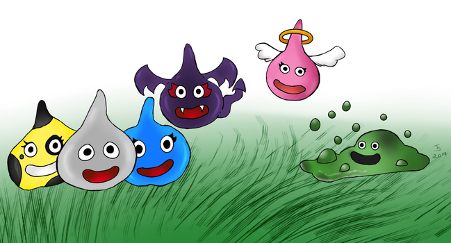Me and my Slime Buddies by Tibby-san