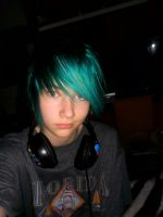 Short turquoise hair O.O by Killersmiler