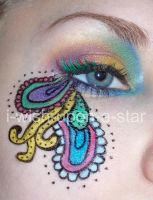 Paisley Pattern Eye Makeup by i-wish-upon-a-star