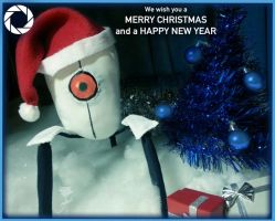 Aperture Science Holiday Card by xXMoonlightOwlXx