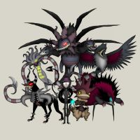 Requested Dark Type Pokemon Team by diasapacibles