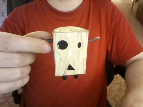 Wooden Idol papercraft compelted by komodor55