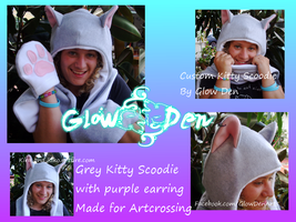 Grey Kitty Scoodie for Artcrossing by KikoJaharo