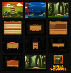 Ninja Squirrel Game by dxgraphic