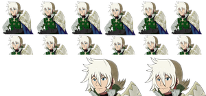 Fire Emblem Fates Style: Galath Portraits by CometX-ing