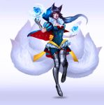 Snow White Ahri - Fan skin by Blanca-J-E