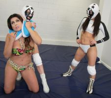 Masks vs Jasmine Mendez! by sleeperkid