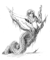 Naga of the Swamp - For Friend by zombie-phoenix