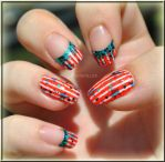 4th of July Nail Art + link to video tutorial by MadamLuck