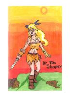 Warrior Tima Comic Cover by Shapshizzle