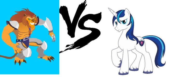 Tangath Toborn Vs Shining Armor by Omnianimeman-brony